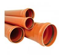 Tub PVC D 110  4 m SN2 Portocaliu - materiale constructii Cipcosmar Pitesti -1