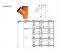 Ramif canal PVC, D 250/160 mm - materiale constructii Cipcosmar Pitesti -1